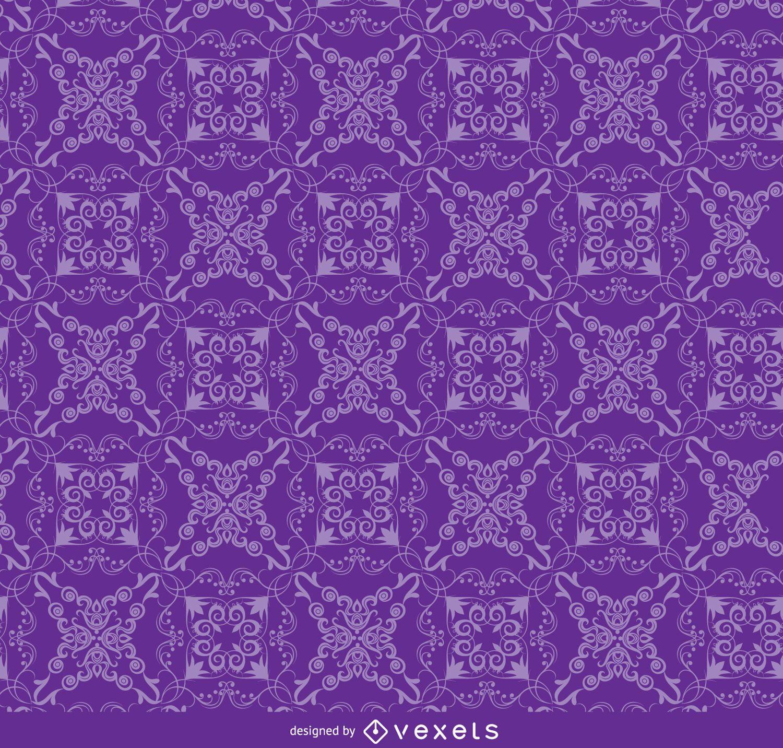 Patrón de ornamento floral púrpura