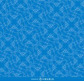 Redemoinhos, emaranhado, azul, padrão