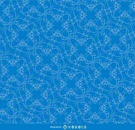 Swirls tangle blue pattern