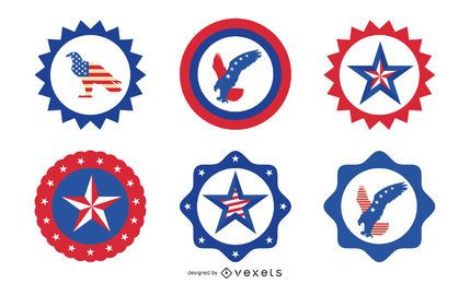 Independence Day Round Badge Set