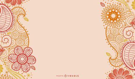 Cartão da decoração de Paisley