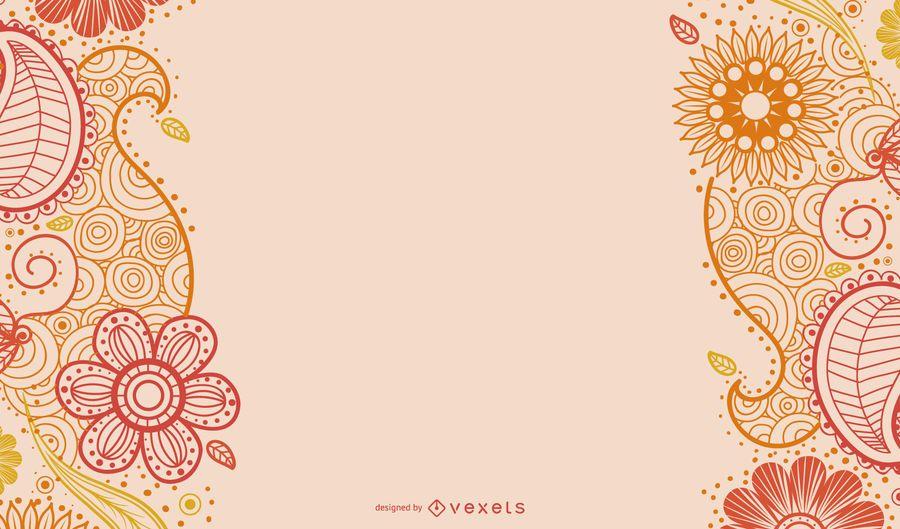 Paisley Decoration Greeting Card