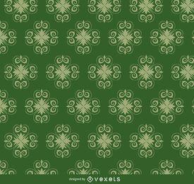 Estrela redemoinhos padrão verde