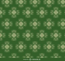 Star swirls green pattern