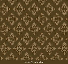 Teste padrão floral dourado de Rhomb