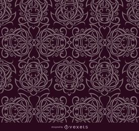 Celtic ornaments purple pattern