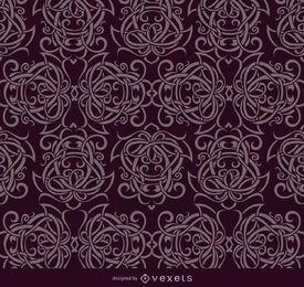 Ornamentos celta roxo padrão