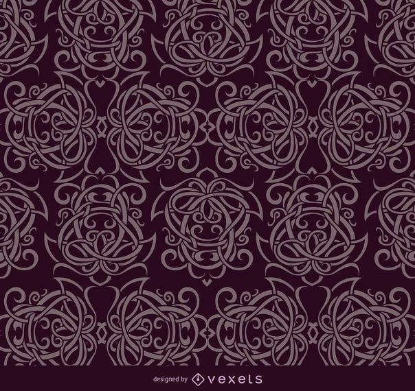 Celtic ornaments purple pattern