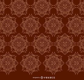 Celtic ornaments brown pattern