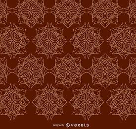 Keltische Ornamente braunes Muster