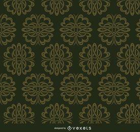 Padrão de ornamentos celta verde