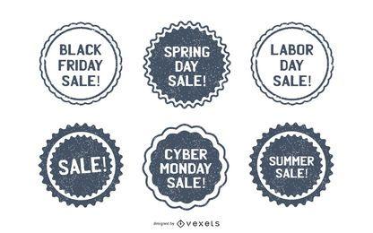 Paquete de sellos de venta promocional