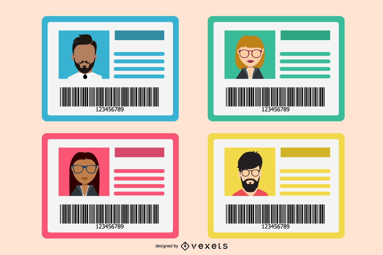 Flat Identification Card Set