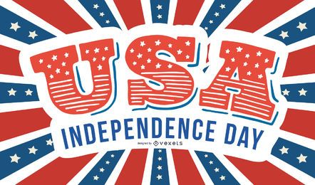 Creative USA Independence Day Card