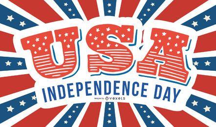Tarjeta creativa del día de la independencia de los EE.