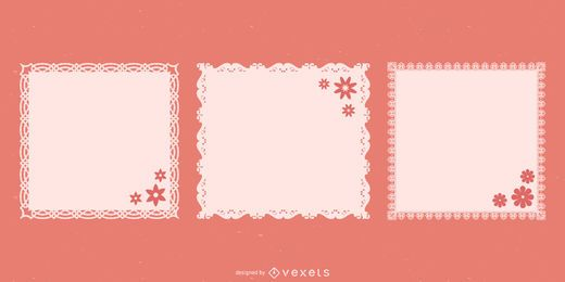 Decorative Doily Lace Squares Pack