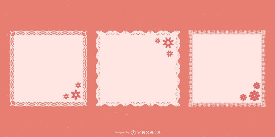 Pack de cuadrados de encaje tapete decorativo