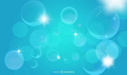 Fundo de bolhas brilhantes cristalizadas
