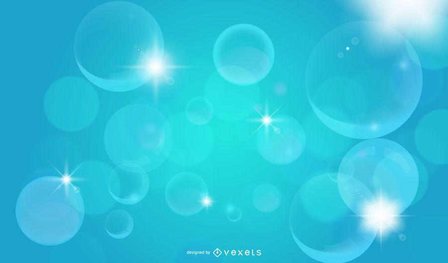 Crystallized Shiny Bubbles Background