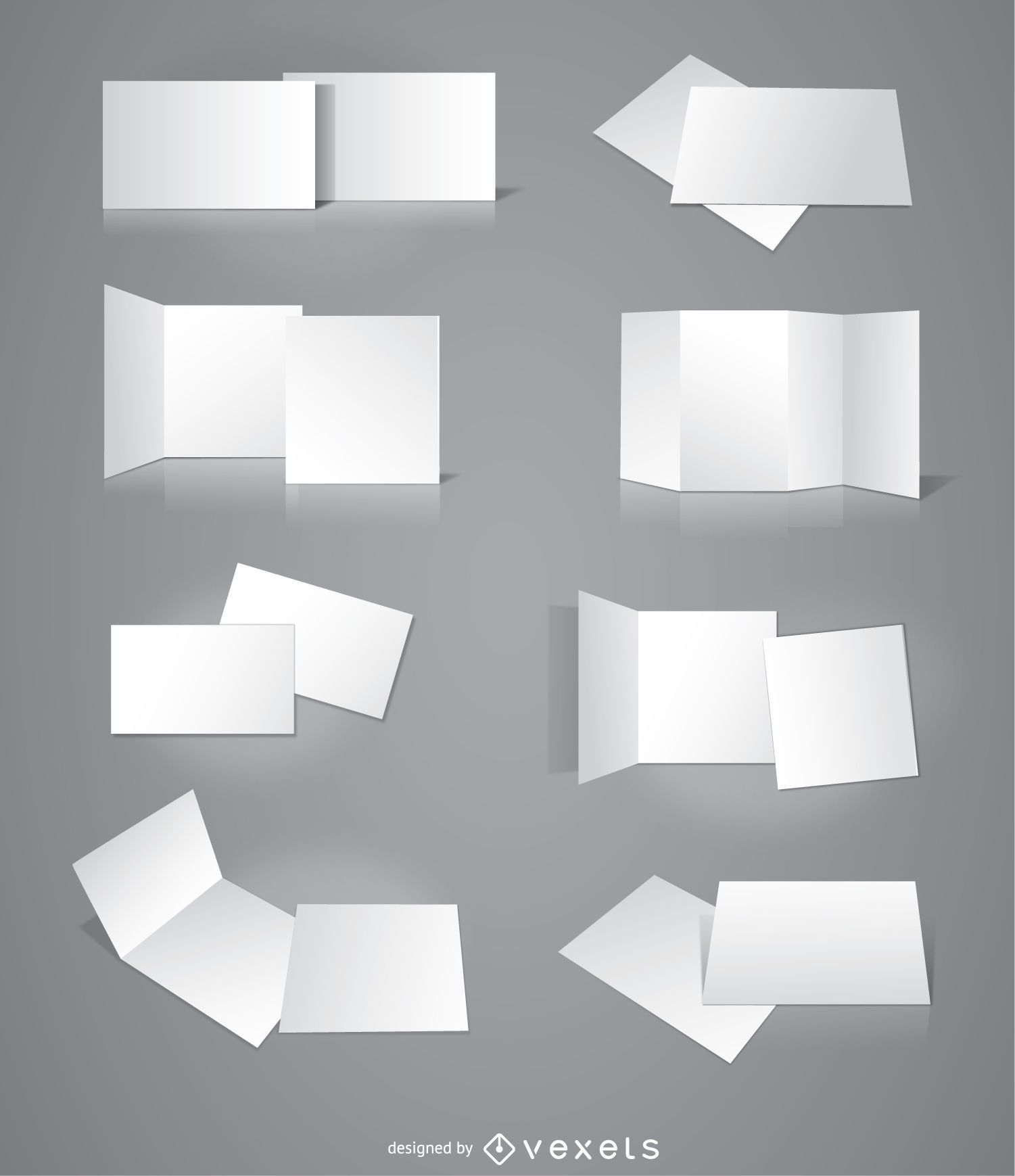 8 Brochures cards invitations presentations