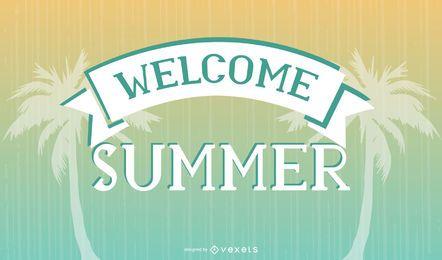 Cartaz de horário de verão vintage