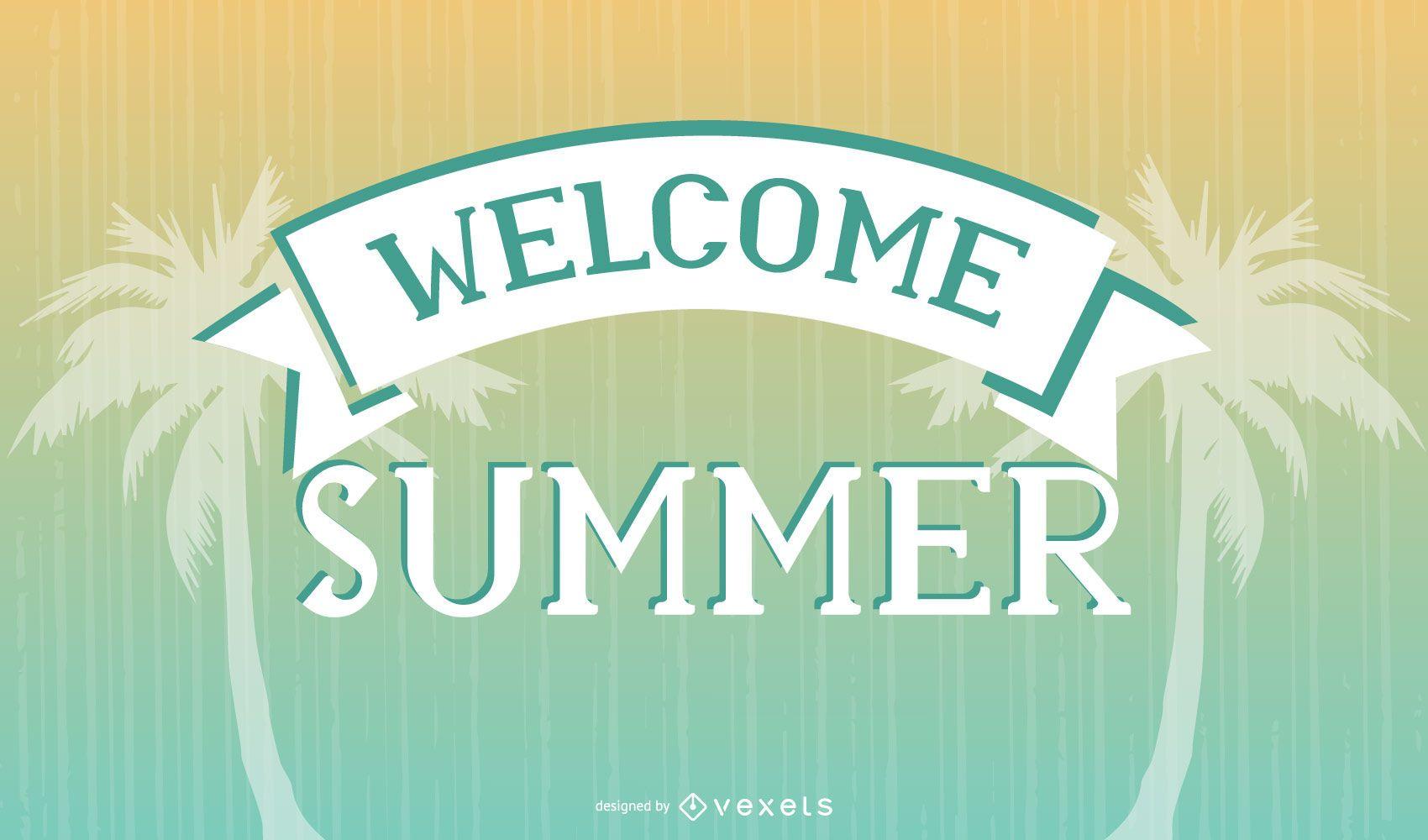 Vintage Summer Time Poster