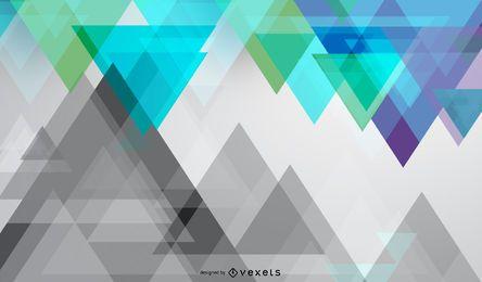 Fundo colorido de triângulos diagonais