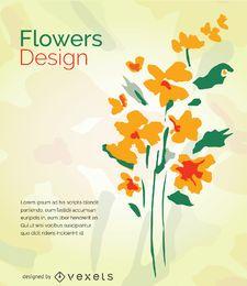 Aquarell abstrakte Blumen
