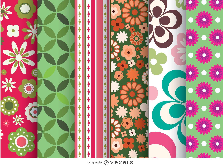 6 hermosos patrones florales