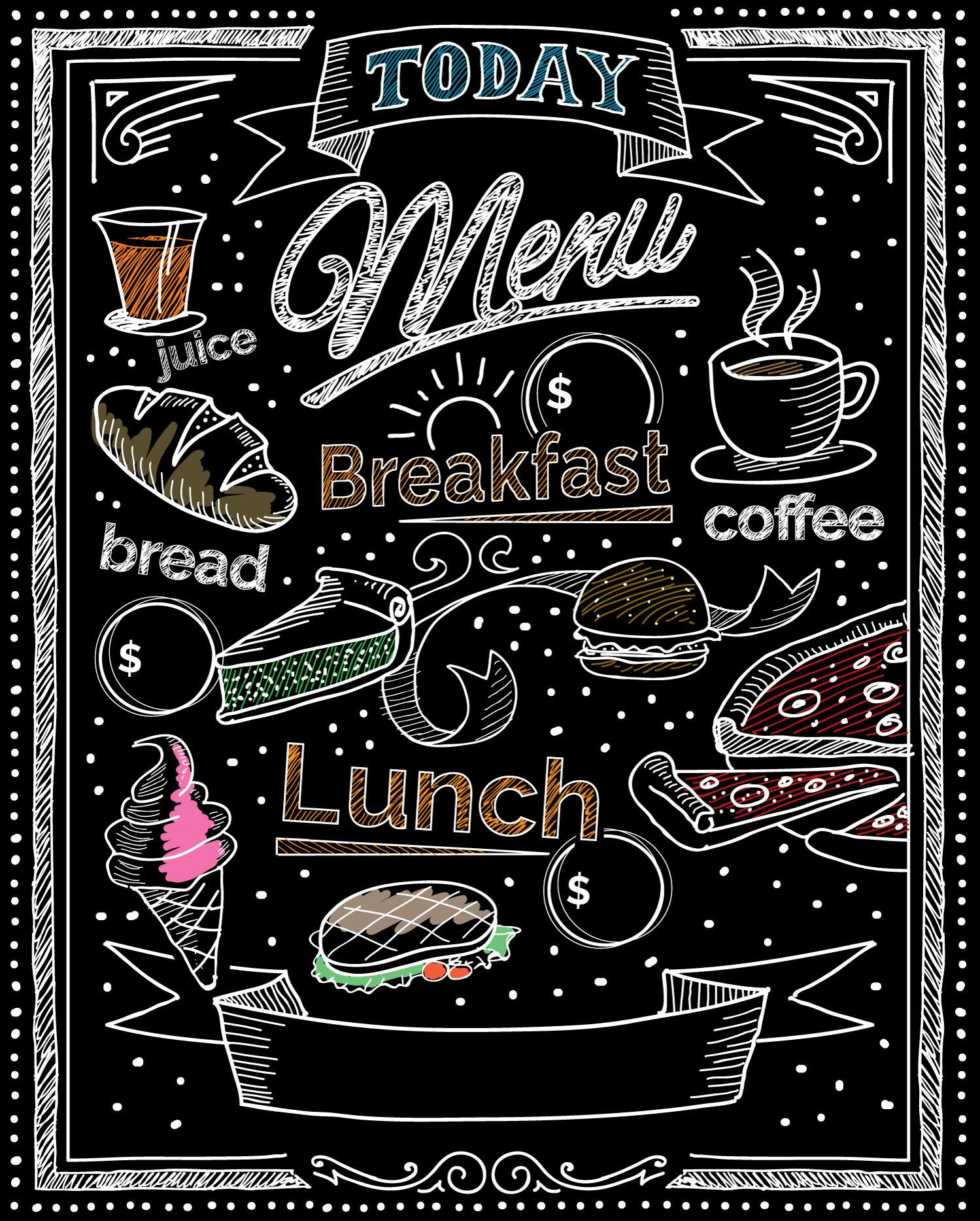 Chalk Restaurant Blackboard