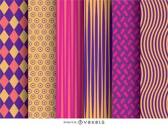 6 padrões de papel de parede modernos