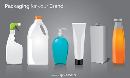 6 Mock-ups für Verpackungsflaschen