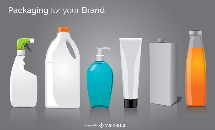6 packaging bottle set