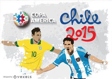 Messi y Neymar Chile 2015