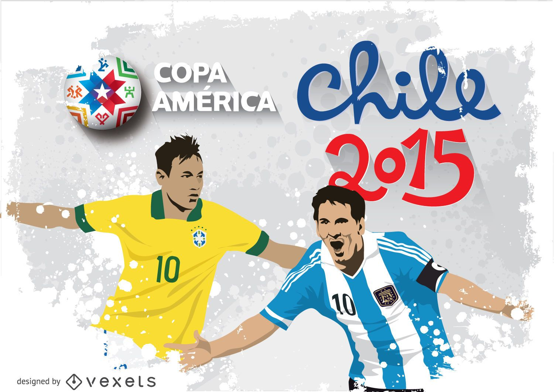 Messi & Neymar Chile 2015