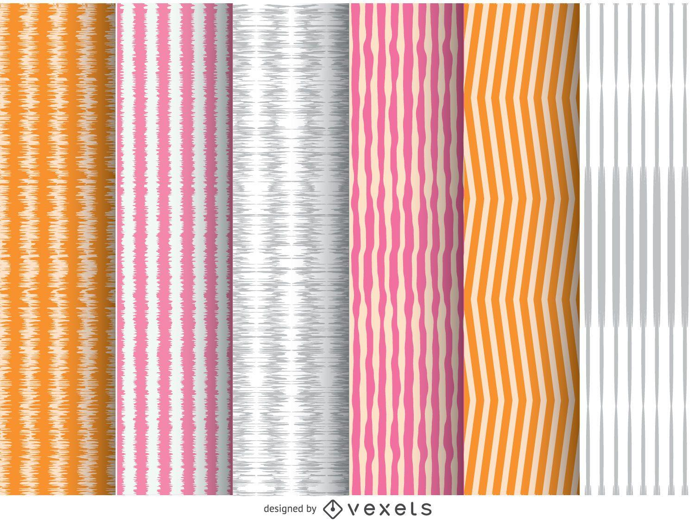 6 irregular stripes backgrounds