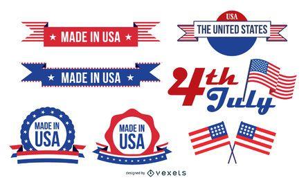 Hecho en el conjunto de etiquetas de EE. UU.