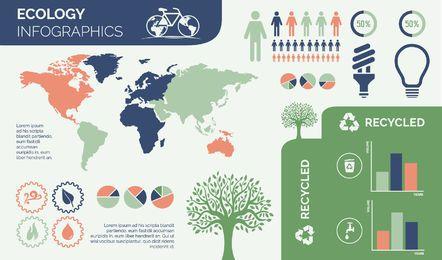 Ecología Ambiental Diseño Infográfico