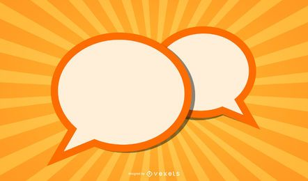 Speech Balloons Sunbeam Background