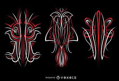 Ilustrações de 3 pinstripes