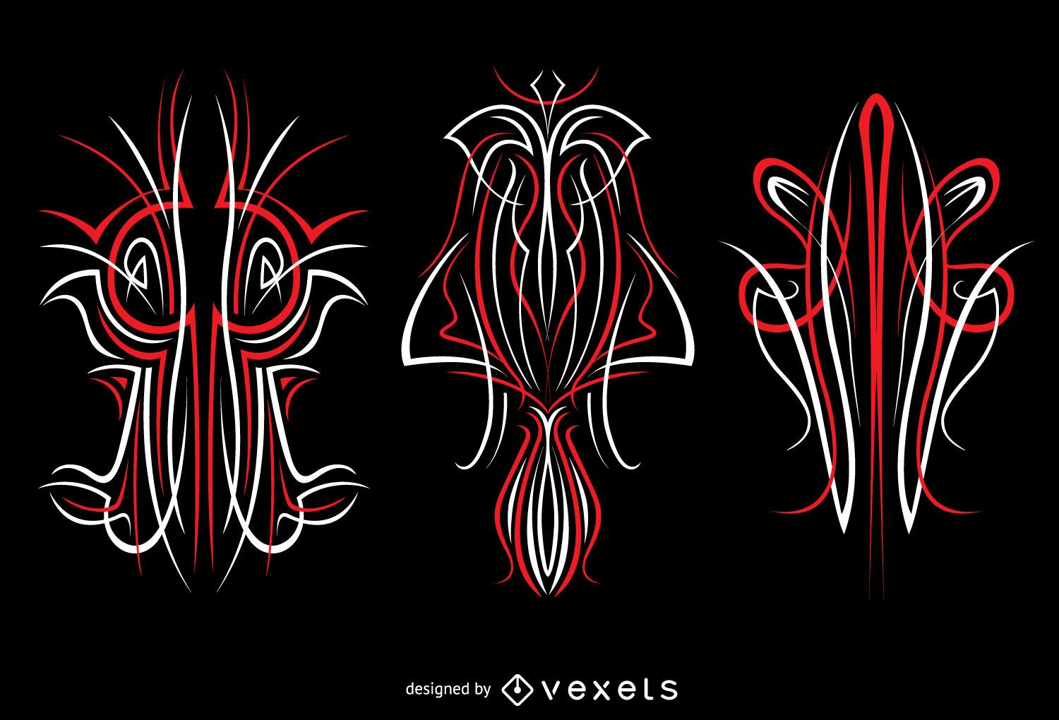 3 Pinstripes Graphics Vinyl Ready Vector Download