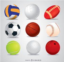 9 Vektorsportbälle
