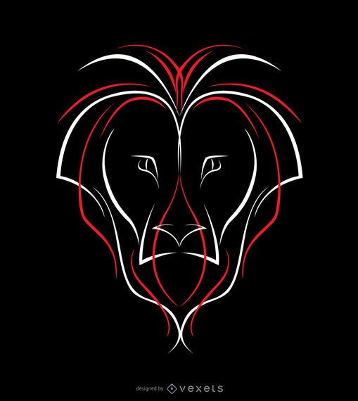 Lion Pinstripe Design