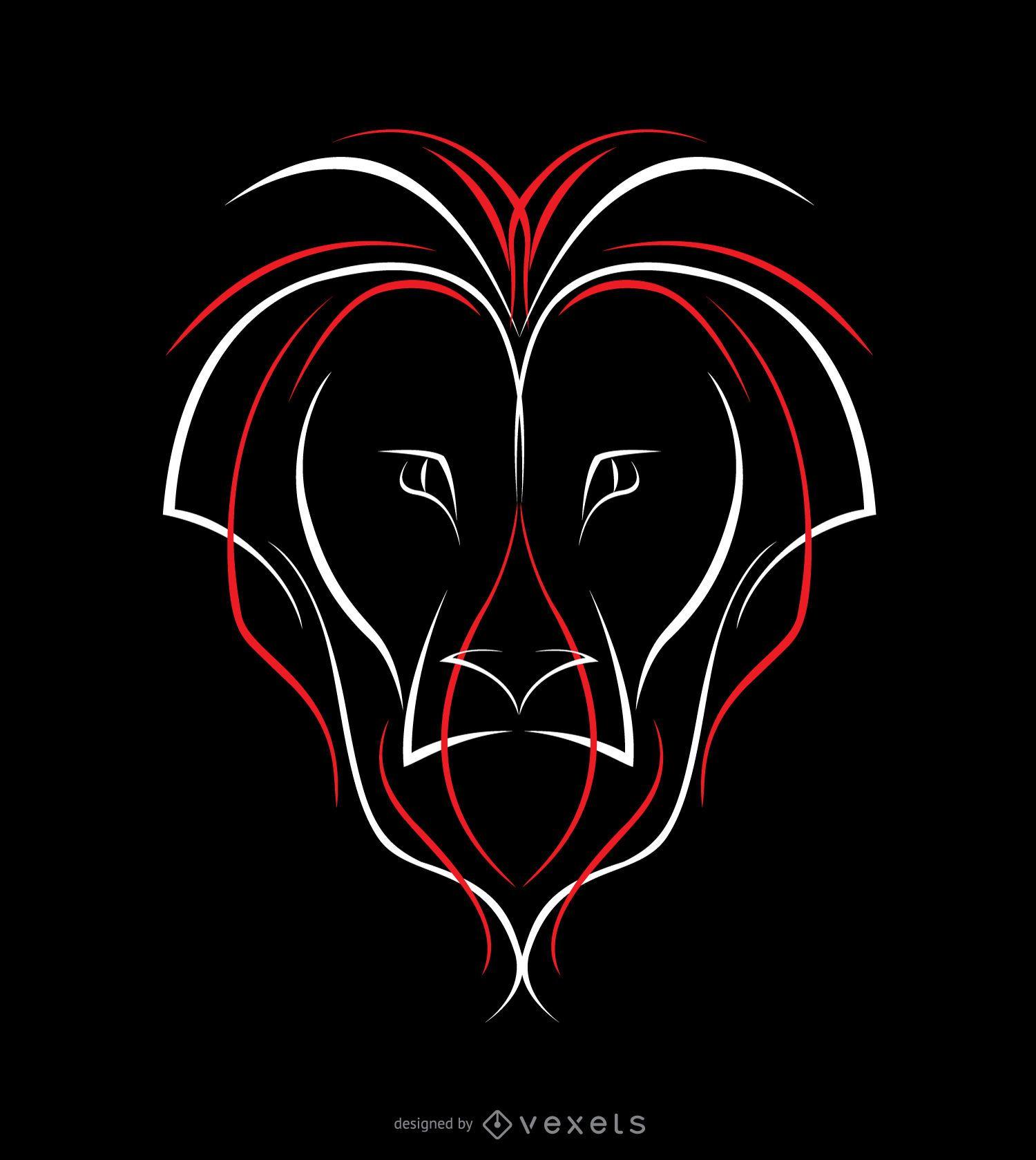Diseño de rayas de león