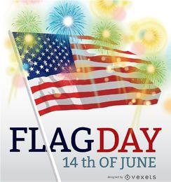 Día de la bandera USA 14 de junio