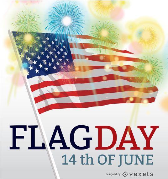 Tag der Flagge USA am 14. Juni
