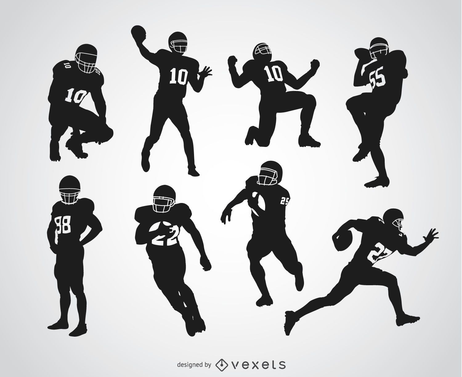 american football players silhouettes download large image 729x597px license image user