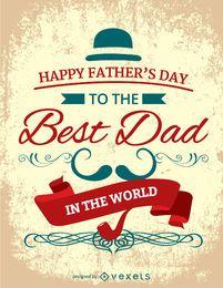 Tarjeta de cosecha Feliz Día del Padre