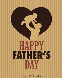 Dia feliz do coração do Pai