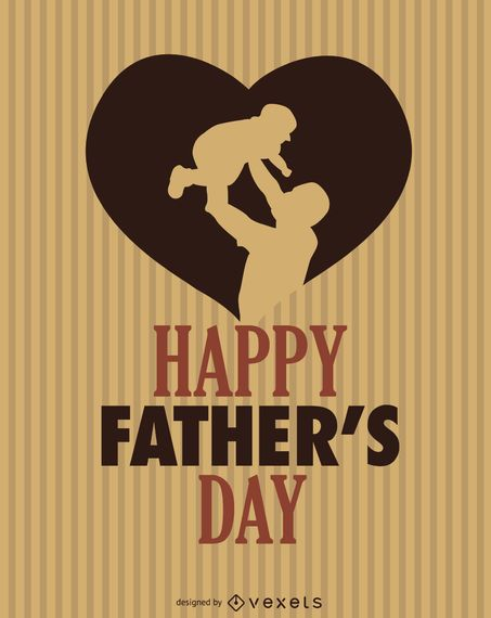 Feliz dia del padre corazon
